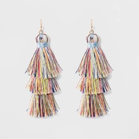 SUGARFIX by BaubleBar Tiered Tassel Drop Earrings