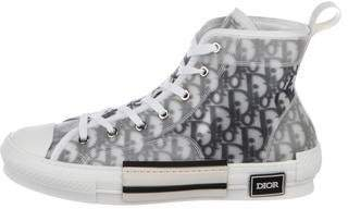 Christian Dior 2019 B23 Oblique High-Top Sneakers