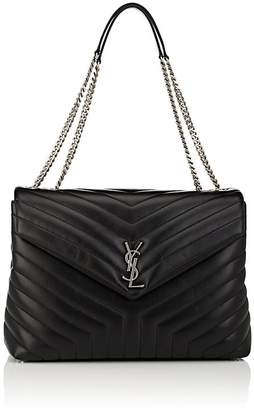 Saint Laurent Women's Monogram Loulou Large Leather Shoulder Bag