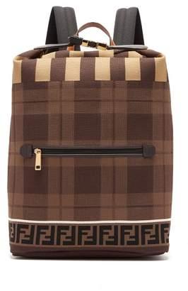 8aa59a7533ec Fendi Ff Technical Knit Backpack - Mens - Brown Multi