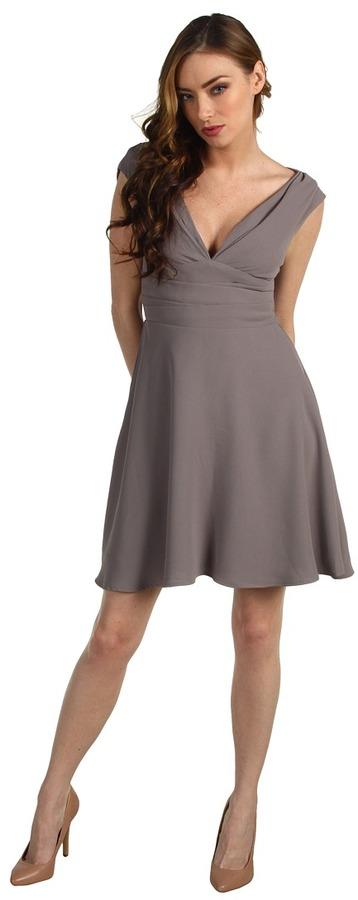 Z Spoke Zac Posen Crepe Dress (Cement) - Apparel