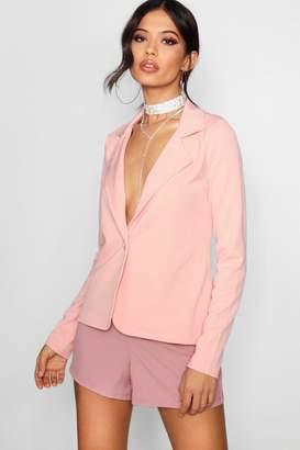 boohoo Bella Button Front Basic Blazer