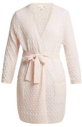 Skin - Malia Pointelle Wool Blend Robe - Womens - Light Pink
