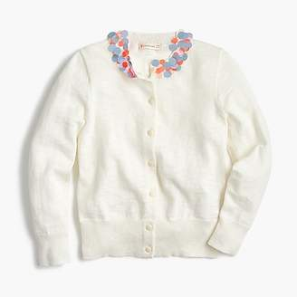 J.Crew Girls' sequin-collar cardigan sweater