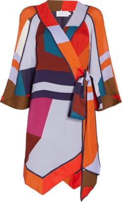 Tanya Taylor Color Block Printed Sheila Dress