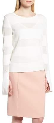 BOSS Frangy Mesh Stripe Sweater