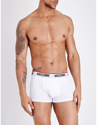 Moschino Tape cotton-blend trunks