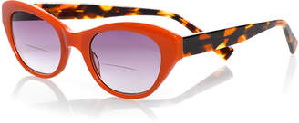 Eyebobs B'Witched Two-Tone Cat-Eye Sun Readers, Tortoise/Orange