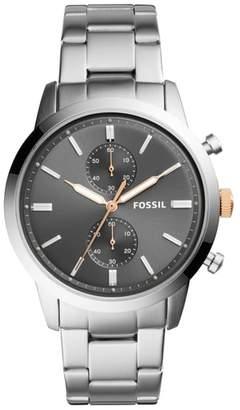 Fossil Townsman Chronograph Bracelet Watch, 44mm