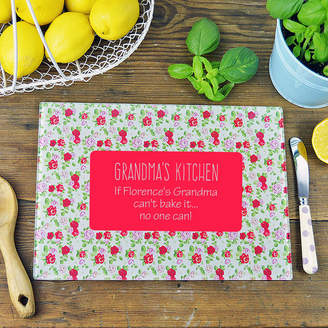 Andrea Fays Personalised 'If Grandma Can't Bake It' Chopping Board