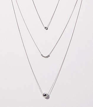 LOFT Metallic Beaded Necklace Set