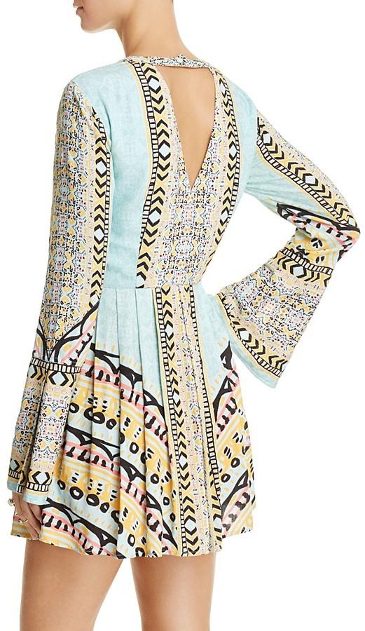 Free People Tegan Border-Print Mini Dress 4