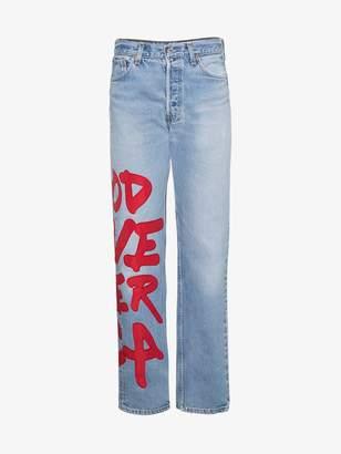 R 13 Applique Boyfriend Jeans