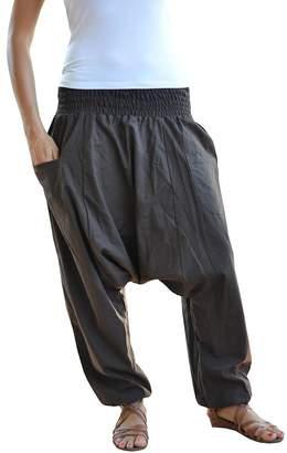 Braun bonzaai wide leg trousers harem pants aladdin pants hippy - Unüberlegt