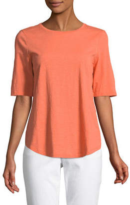 Eileen Fisher Organic Cotton Slub Top, Plus Size