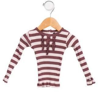 Lili Gaufrette Girls' Rib Knit Long Sleeve