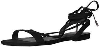 Armani Exchange A|X Women's Eco Suede Logo Lace Up Sandal Flat
