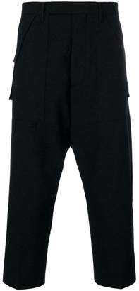 Rick Owens drop crotch tailored trousers