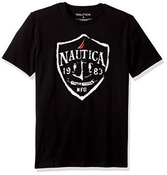 Nautica Men's Short Sleeve Signature Graphic Crewneck T-Shirt