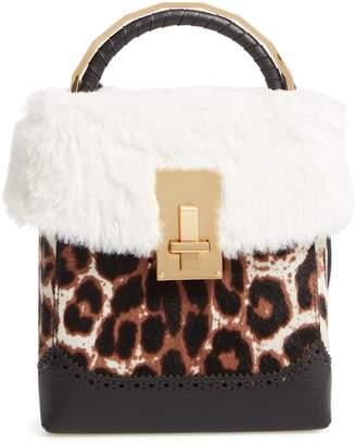 the VOLON Genuine Calf Hair & Faux Fur Box Bag