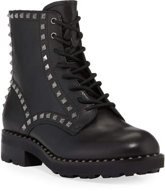 Ash Wolf Studded Leather Combat Booties
