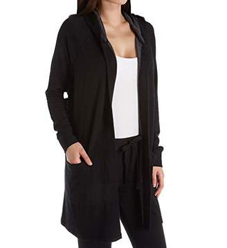 Stateside Women's Viscose Fleece Hooded Cardigan