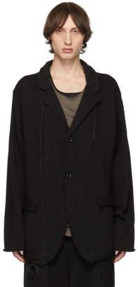 Yohji Yamamoto Black Knit Blazer