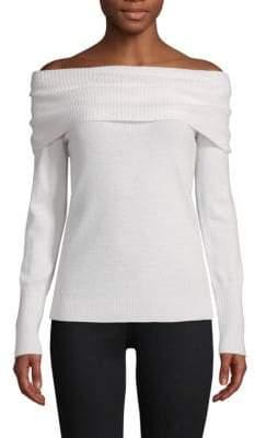 Off-The-Shoulder Cashmere Pullover