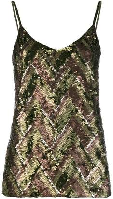 P.A.R.O.S.H. sequinned cami top