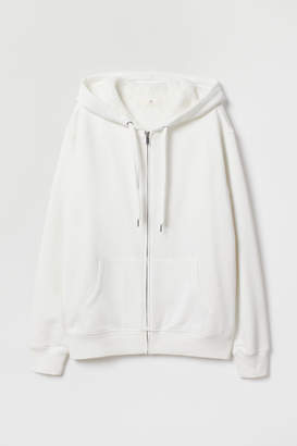 H&M Pile-lined Hooded Jacket - White