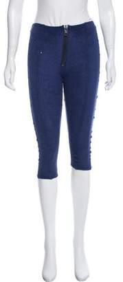 Lisa Marie Fernandez Cropped Terry Cloth Skinny Pants