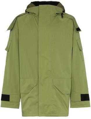 Yves Salomon Bachette fur lined hooded coat