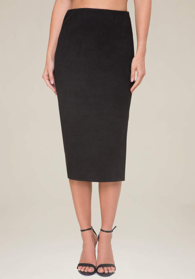 Pebble Faux Suede Skirt