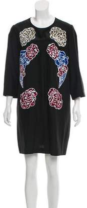 Stella McCartney Embroidered Silk Dress Black Embroidered Silk Dress