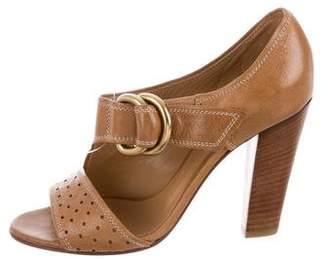 Chloé Leather Cutout Sandals