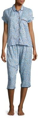 Juicy Couture Sleep Top and Cropped Sleep Pants Set