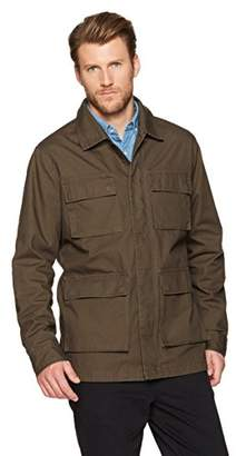 Wood Paper Company Men's Long Sleeve Rugged Cotton Cargo Pocket Zip-Up Field Jacket