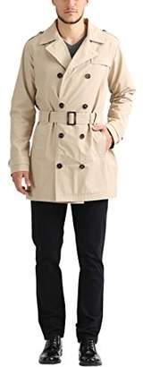 James Tyler Men's Trench Coat with Belt,2XL