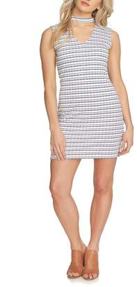 1 STATE 1.State Striped Choker Neck Bodycon Dress