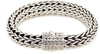John Hardy Silver woven large chain bracelet