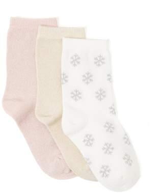 Crazy 8 Crazy8 Toddler Snowflake Socks 3-Pack