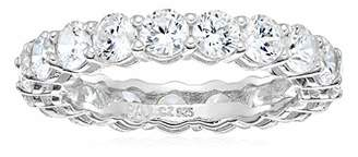 Amazon Essentials Round Cut Cubic Zirconia Eternity Band Ring (3.5mm)