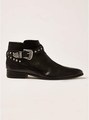 Topman Mens HOUSE OF HOUNDS Black Harpy Stud Buckle Boots