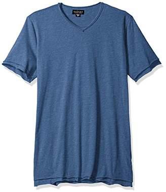 Velvet by Graham & Spencer Men's Montage Double-Layer Short Sleeve V-Neck Heathered T-Shirt