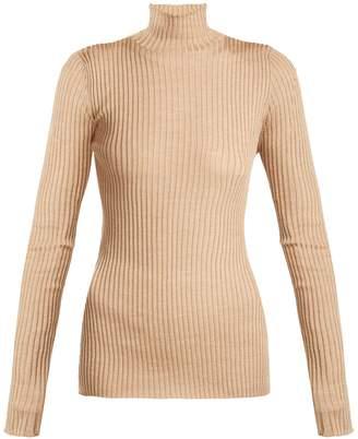Jil Sander Silk and wool-blend roll-neck sweater