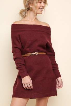 Umgee USA The Versa Sweater/off-Shoulder-Dress