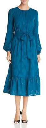 MICHAEL Michael Kors Textured Print Midi Dress