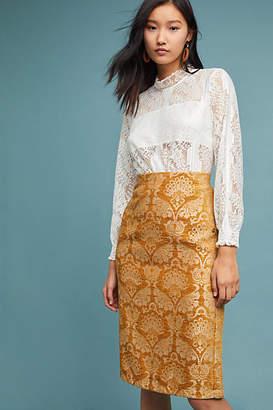 Ottod'Ame Tudela Velvet Pencil Skirt