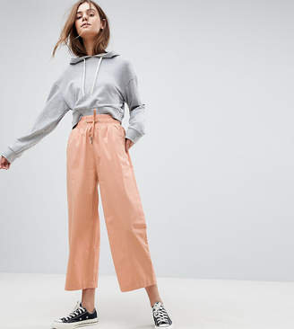 Asos DESIGN soft wide leg pants in dusty pink