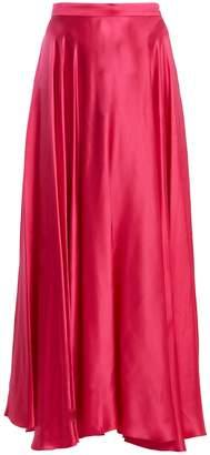 Gucci High-rise crinkled silk-blend skirt